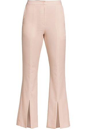 LVIR Women's Pleasant Utility Slim Bell Bottom Slit Pants - - Size Large