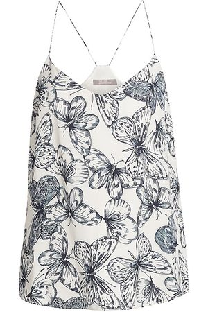 LELA ROSE Women's Butterfly-Print Georgette Camisole - - Size Medium