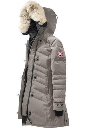 Canada Goose Women's Arctic Tech Lorette Fur-Trim Down Parka - Moonstone - Size Large