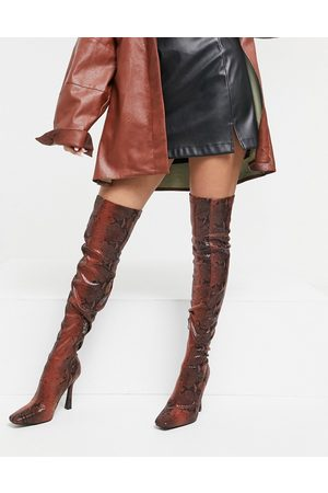 SIMMI Shoes Simmi London Minar over the knee boots in snake
