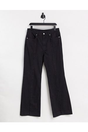 Weekday Orian set organic cotton flared pinstripe jeans in