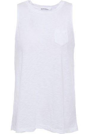 Stateside Woman Slub Supima Cotton-jersey Tank Size L