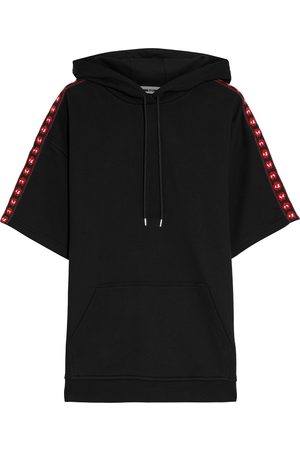 McQ Woman Jacquard-trimmed French Cotton-terry Hoodie Size M