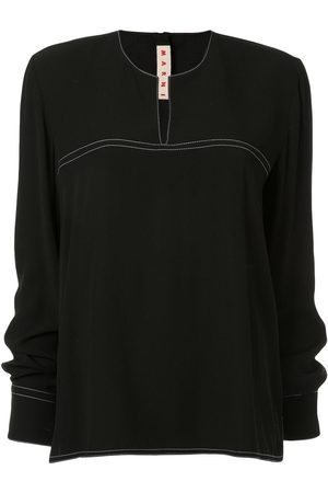 Marni WOMEN'S CAMA0254A0TV28500N99 WOOL BLOUSE