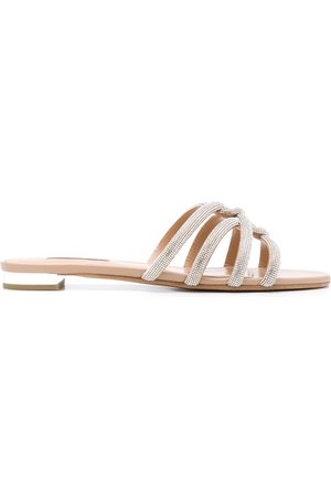 Aquazzura Women Flat Shoes - Moondust flat sandals