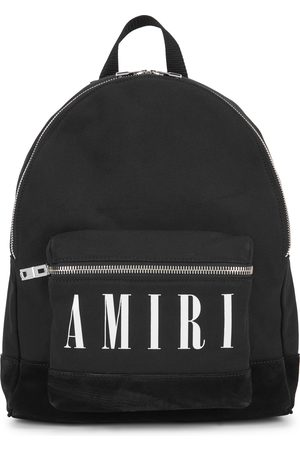 AMIRI Logo canvas backpack