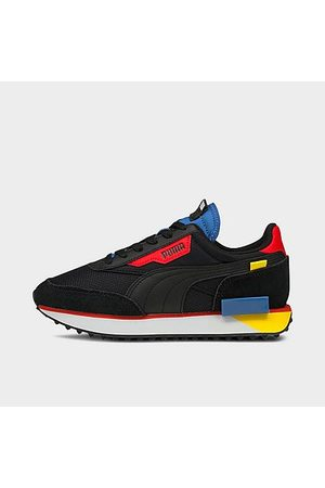 PUMA Boys' Big Kids' Future Rider Neon Play Casual Shoes in Size 4.0 Suede