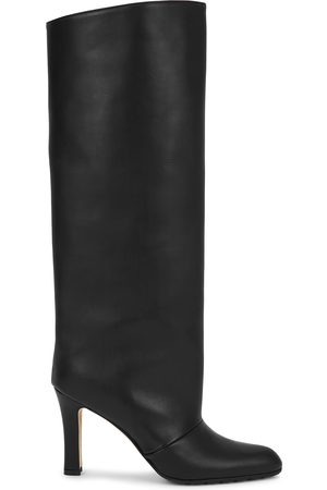 Manolo Blahnik Khomobi 90 leather knee-high boots