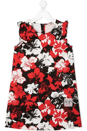 Nº21 Girls Printed Dresses - Floral print ruffle dress