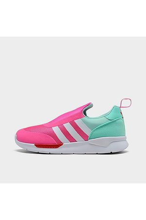 adidas Girls' Little Kids' Originals ZX 360 1 Slip-On Casual Shoes in Size 1.0 Satin