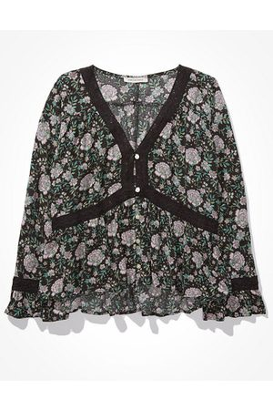 American Eagle Outfitters Lace Babydoll Top Women's XXS