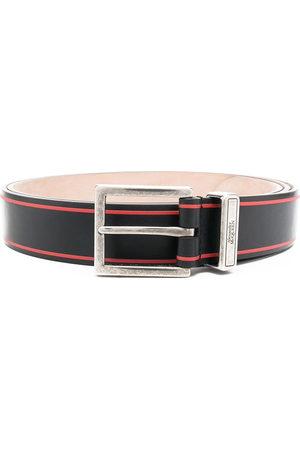 Alexander McQueen Logo print tonal buckle belt