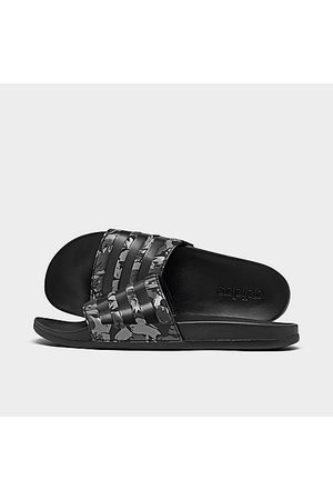 adidas Men Sandals - Men's Adilette Cloudfoam Plus Slide Sandals in Grey/ /Camo Size 8.0