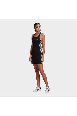 adidas Women Casual Dresses - Women's Originals 3-Stripes Spaghetti Strap Dress in Size X-Small Cotton/Jersey