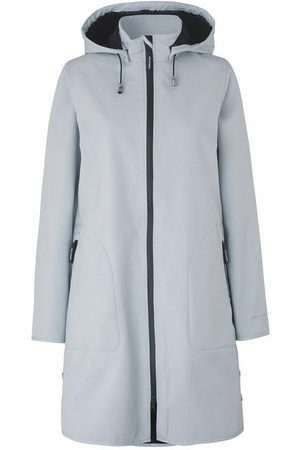 Ilse Jacobsen Raincoat White Blue