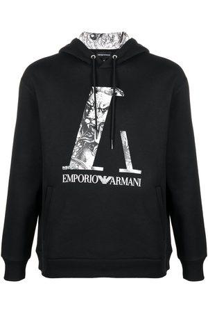 Emporio Armani Logo drawstring hoodie
