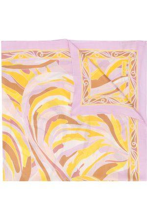 Emilio Pucci Vetrate print cashmere scarf