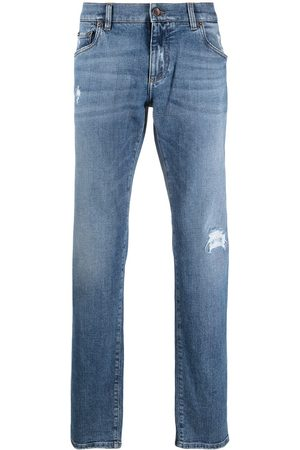 Dolce & Gabbana Logo-patch denim jeans