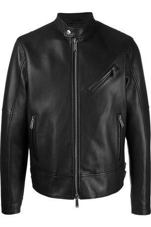 Dsquared2 Men Leather Jackets - Polished-finish zip-fastening jacket