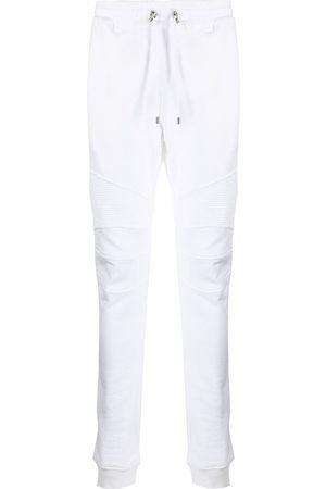 Balmain Men Sweatpants - Rib-panel skinny track pants
