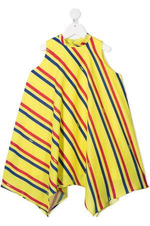Msgm Stripe-print asymmetric dress