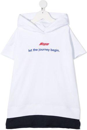 Msgm Boys Hoodies - Logo print hoodie