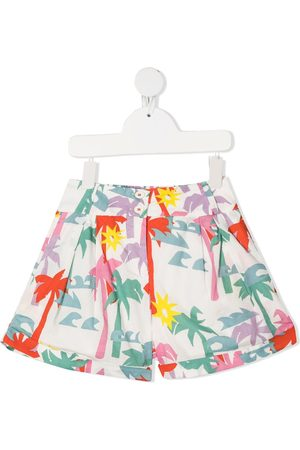 Stella McCartney Palm tree-print organic-cotton shorts