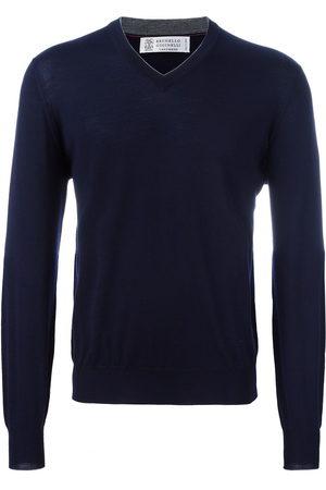 Brunello Cucinelli Men Sweatshirts - V-neck jumper