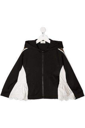 Fendi Lace-hem hoodie