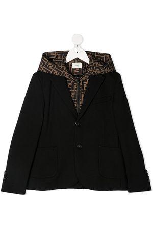 Fendi FF-logo hooded lining blazer