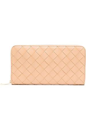 Bottega Veneta Interwoven-design rectangle wallet - Neutrals