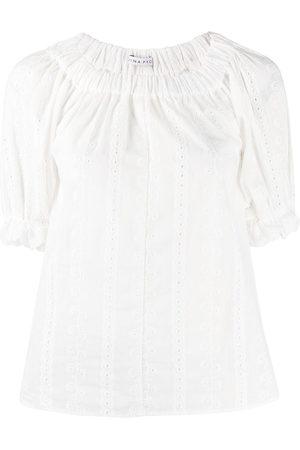 REJINA PYO Smocked-collar blouse