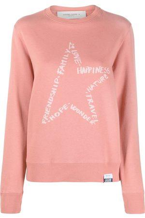 Golden Goose Women Sweatshirts - Star-motif printed sweatshirt