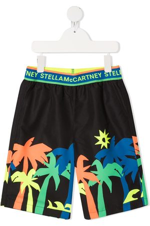 Stella McCartney Palm tree-print swimming shorts