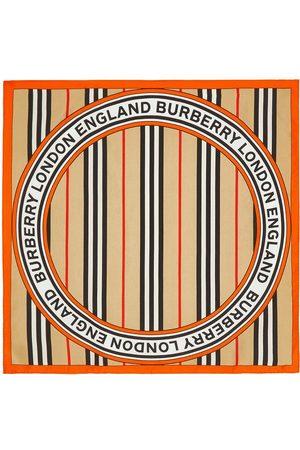 Burberry Icon stripe small square scarf - Neutrals
