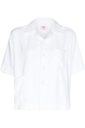 Terry. Textured boxy short-sleeve shirt