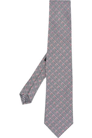 Etro Dot-jacquard silk tie - Grey