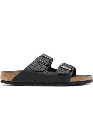 Birkenstock Nevada croc-effect sandals