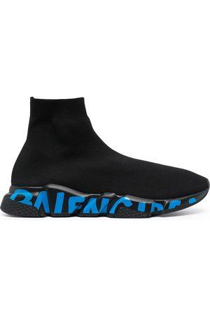 Balenciaga Men Sneakers - Speed graffiti sole sneakers