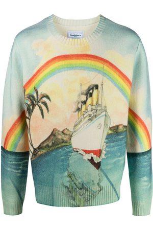 Casablanca Rainbow print jumper