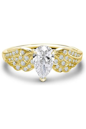 Pragnell 18kt gold pear shaped diamond tiara ring