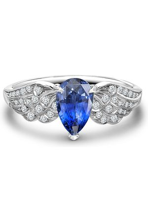 Pragnell Women Rings - Platinum Tiara sapphire and diamond ring