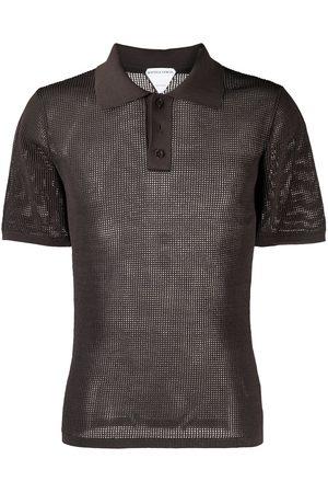 Bottega Veneta Open-knit polo shirt