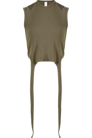 DION LEE Halterneck-tie cotton top