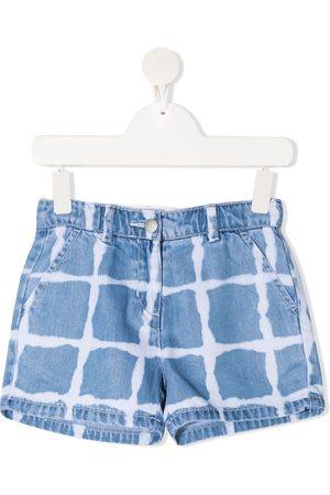 Stella McCartney Bleach grid shorts