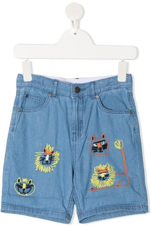 Stella McCartney Cat embroidered shorts