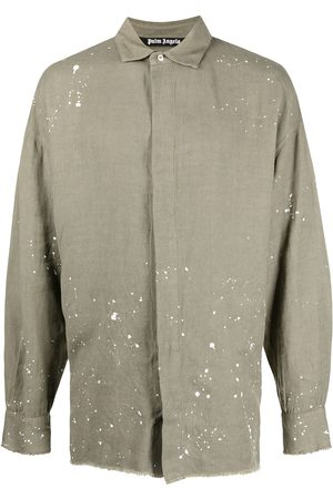 Palm Angels Paint-splatter detail shirt