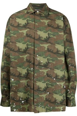 Palm Angels Camouflage logo print shirt