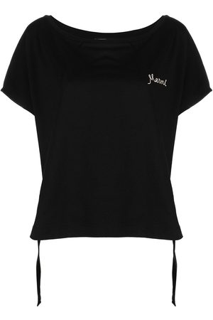 Marni Logo-embroidered drawstring T-shirt