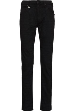 Paige Men Slim - Lennox crocodile-effect slim-fit jeans